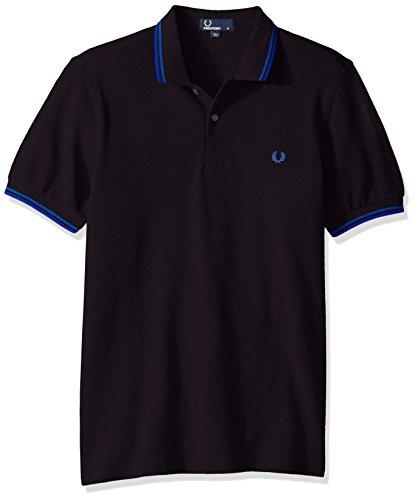 Fred Perry Herren Poloshirt M3600, Multicolore (Black/Regal), Medium