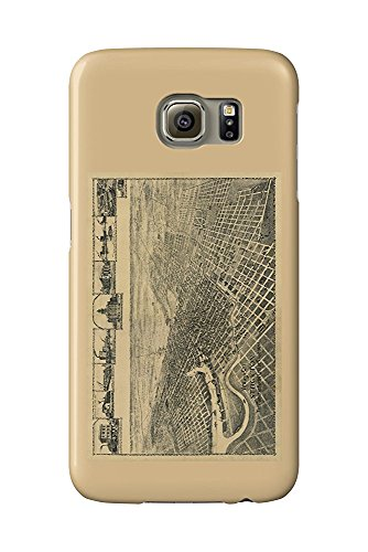 Stockton, California Panoramic Map (Galaxy S6 Cell Phone Case, Slim Barely There)