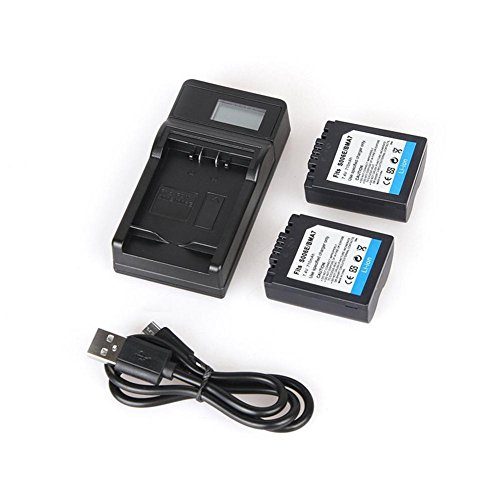 iBaste Ersatzakku mit Ladegerät DMW-BMA7 / S006E Wiederaufladbare Li-Ion-Akkus (710 mAh) LCD-USB-Digitalkameras Akkuladegerät für PANASONIC 710 Mah Lithium-batterie