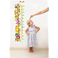 Ambiance Wall Sticker Owls and Giraffe Height Chart with Packaging