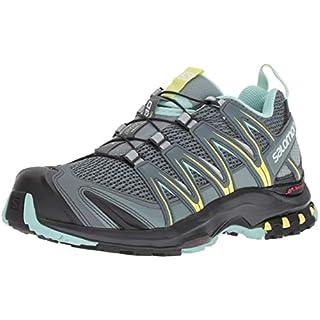Salomon Damen XA Pro 3D W, Trailrunning-Schuhe, grau (stormy weather / lead / eggshell blue), Größe: 39 1/3