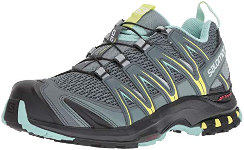 Salomon Damen XA Pro 3D W Trailrunning-Schuhe, Synthetik/Textil, grau (stormy weather/lead/eggshell blue), Gr. 40