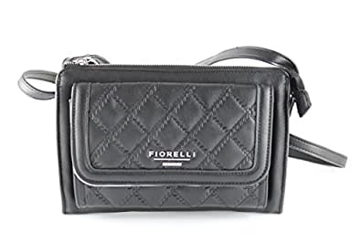 Fiorelli Womens Tessa Cross-Body Bag FH8035 Black Quilt