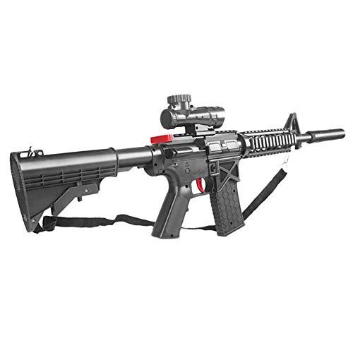 AngryMan Pistola de Agua de Juguete de Combate de acción en Vivo de plástico con acción en Vivo M416, Balas de Cristal de Agua Blanda de Gel de 7-8 mm, Individual / Continua