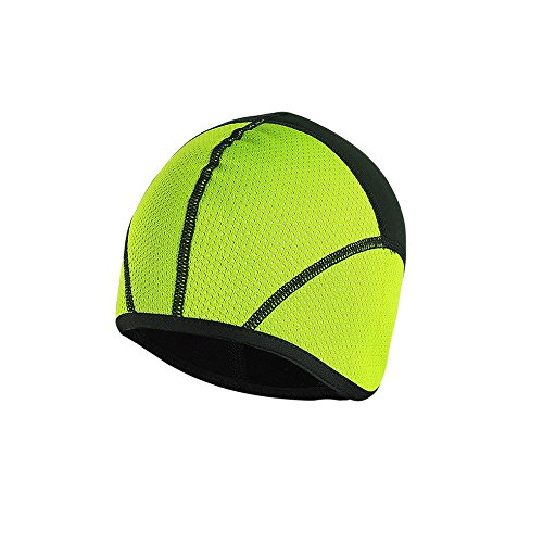 TOFERN Skull Cap Fahrradmütze Mütze unter den Helm Unterziehmütze warm Outdoor, Grün L (Kopfumfang 58-62cm?