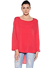 Club SP by Satya Paul Women's Poly Crepe candy Top