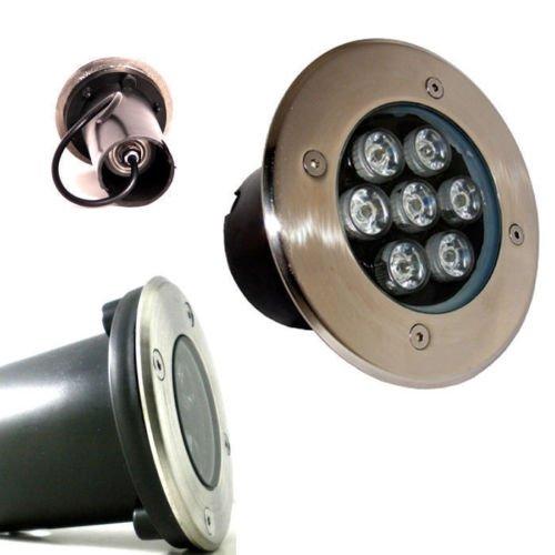 Foco empotrable LED de exterior de señalización, se puede pisar, IP68, 7...