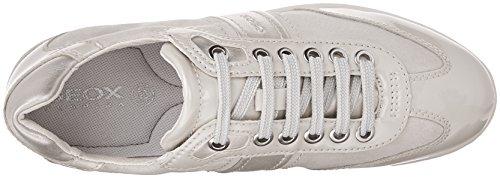 Geox D Myria A, Sneakers Basses Femme Beige