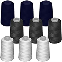 9 conos de hilo de poliester, especiales para máquinas de coser y remalladoras