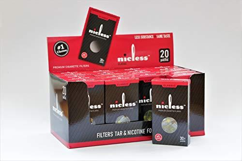 Nicless - Confezione di filtri usa e getta per sigarette (600 Ct.)