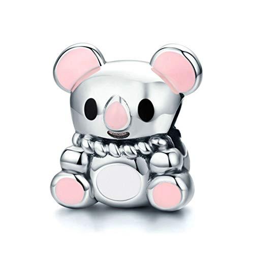 HSUMING Australien Tier Schöne Baby Koalabär 925 Sterling Silber Charm Bead Für Europäische Charm Armband