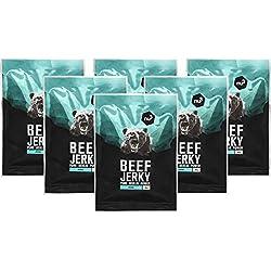 nu3 Beef Jerky original - 6 x 50g de carne seca - Increíble 51% de proteína - Baja en grasa (3,7%) y carbohidratos (4%) - Solo ingredientes naturales - Ganado alimentado al aire libre