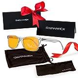 Swanwick Computerbrille mit orangefarbenem SCT-Objektiv – Blaulichtfilter für UV-Schutz, Keine Belastung der Augen – Anti-Blaulicht Brille Crystal Swannies: Diamond XR