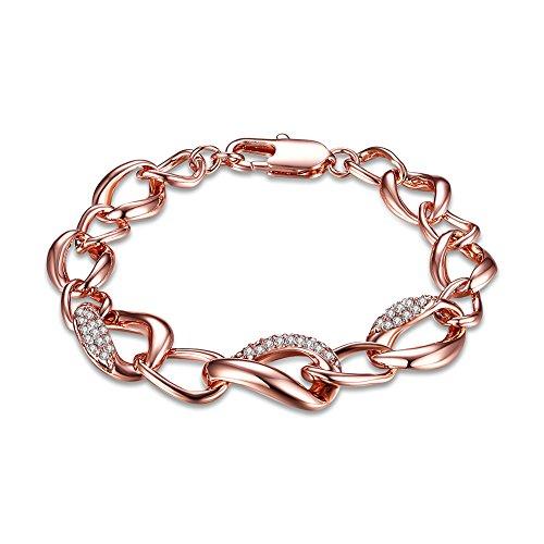 amen-Armband Rose Gold Plated, Rhinestone Hübsches Armband Geschenk für kleine Mädchen oder Frau ()