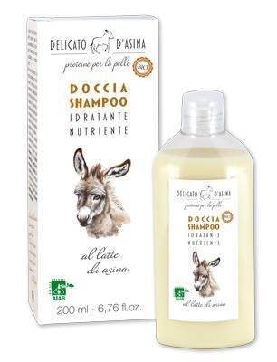 Delicato D Asina-Dusche Shampoo Bio-Eselsmilch-feuchtigkeitsspendend und äußerst Nourishing-200ml