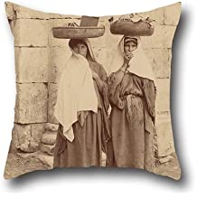 Oil Painting F??lix Bonfils (French) - Femmes De Silo??, Palestine Throw Pillow Case ,best For Gf,bar Seat,indoor,adults,christmas,play Room 16 X 16 Inches / 40 By 40 Cm(both Sides)