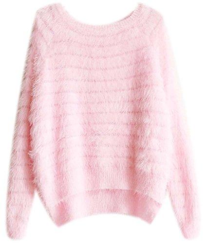 Mohair Pullover Damen Rollkragenpullover Sweat Pullover Longpullover Winterpullover Langarm Mädchen Pullover Frauen Lange Sweater Herbst Winter