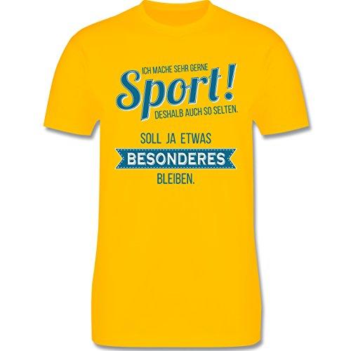 Sonstige Sportarten - Ich mache sehr gerne Sport - Herren Premium T-Shirt Gelb