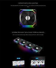 Lian Li UNI Fan SL120 3 Pack Black - with Controller (ARGB 120mm LED PWM Daisy-Chain) 12UF3B