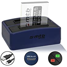 Cargador doble (USB) Canon NB-8L para PowerShot A2200, A3000 IS, A3100 IS, A3150 IS, A3200 IS, A3300 IS, A3350 IS - contiene cable micro USB