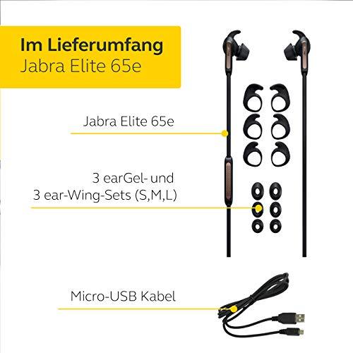 Jabra Elite 65e Wireless Stereo ANC in-Ear-Kopfhörer (Bluetooth, professionelles Active Noise Cancellation, Nackenbügel, Sprachsteuerung für Alexa, Siri und Google Assistant) kupfer schwarz - 7