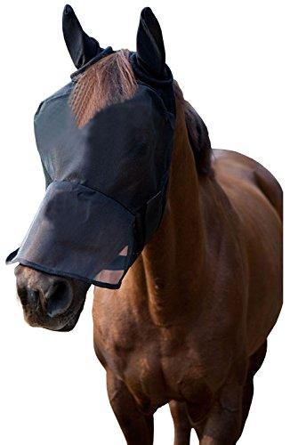 LTG Pro® Fliegenmaske für Pferde, Fliegenschutz, Fliegennetz, aus Polyester, Ohren-/Augenschutz -