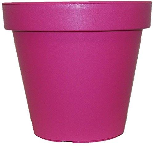 Pflanzgefäß, Blumentopf, Gr. S, M, L, leuchtende Farben, Rosa, Limette, Blaugrün, rose, 25 cm