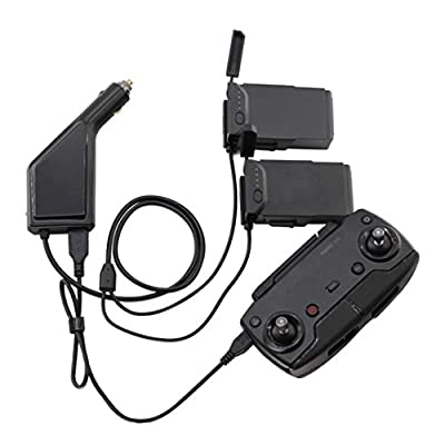 Y56 3in1 Car Charger Adapter For DJI Mavic Air Remote Control & Battery Charging Hub by 5656YAO