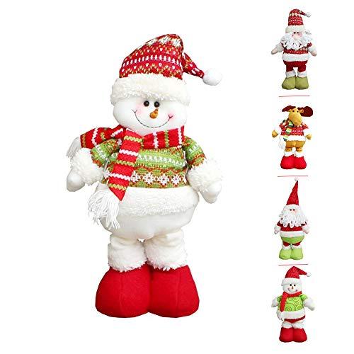 Navidad Peluche, hankyky Lana Tejido Smiley Santa Claus muñeco Nieve Ciervo Christmas Decoration, Grille de Bonhomme de Neige