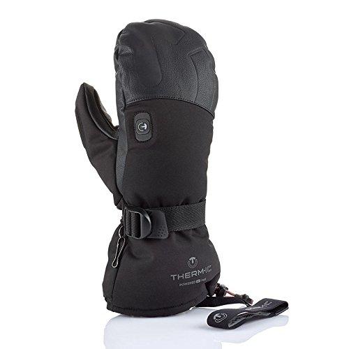 Pow Leder (therm-ic Pow Gloves mit Heizhandschuhe, Schwarz, XS)