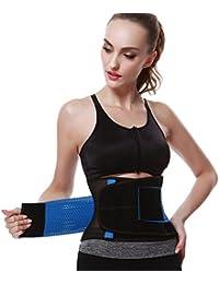 FeelinGirl - Faja transpirable para cintura, posnatal, cinturón de adelgazamiento