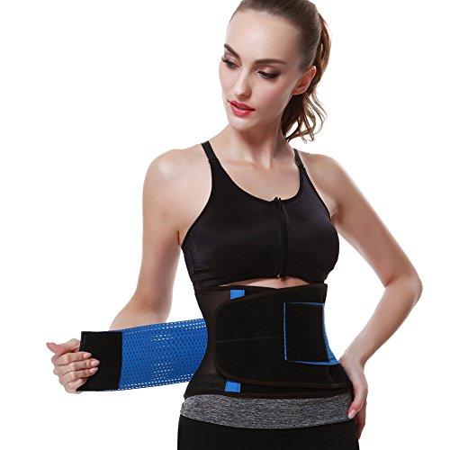 FeelinGirl Damen Waist Cinchr Traning Sport Belt Fitness Slimming Girdle Gurte Blau