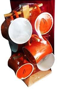Tibros Mug Tree Set - 7 Pcs(Orange)