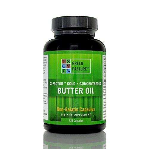 Green Pasture X-Factor Gold High Vitamin Butter öl - 120 Kapseln (Butter öl)