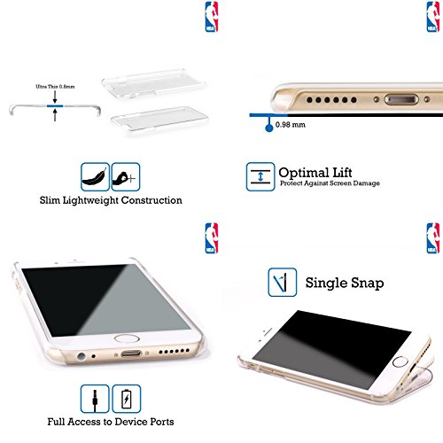 Ufficiale NBA Camouflage Digitale Detroit Pistons Cover Retro Rigida per Apple iPhone 6 Plus / 6s Plus Righe