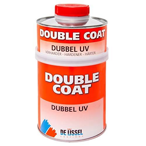 De IJssel Double Coat Doppel UV / Gegen Uv-Strahlen, UV schutz Bootslack   Transparent   0,75L   Hochglanz, Hohe Kratzfestigkeit, Schützt Epoxid gegen UV-Strahlung, UV-beständig (Yachtlack / Decklack)