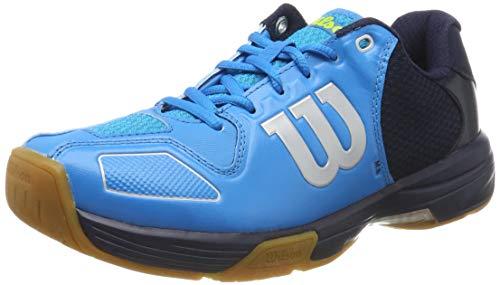 Wilson Vertex, Scarpe da Tennis Unisex-Adulto, Blu Scuro/Grigio Chiaro, 37.5 EU
