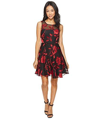Tahari ASL Petite Womens Petite Burnout Floral Party Dress