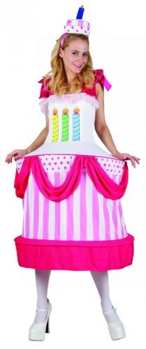 Kostüm Kuchen - Generique - Geburtstagskuchen-Kostüm für Damen Einheitsgröße (40)