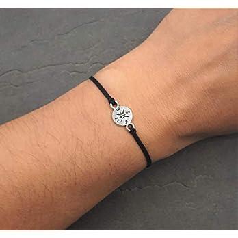 Kompass Armband Damen Mädchen Makramee Textil Band Armschmuck Nylonband in Silber Rosa Rot Grün Farbe Handmade Schmuck…
