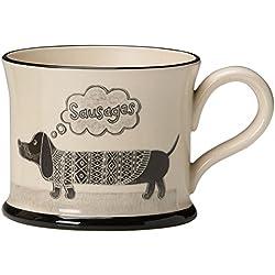 Taza de cerámica con diseño de perro salchicha