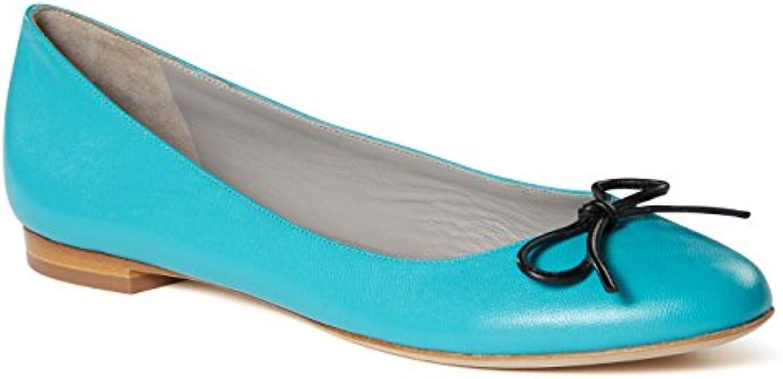 b4Ballerinas Ballerines Turquoise en Cuir Turquoise Ballerines 2b46e9