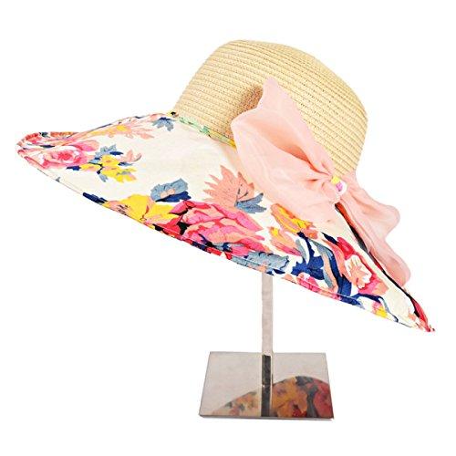 Mme été Pliable Dayan Mao Le Coréen La Mode Chapeau De Plage De Plage Beige1