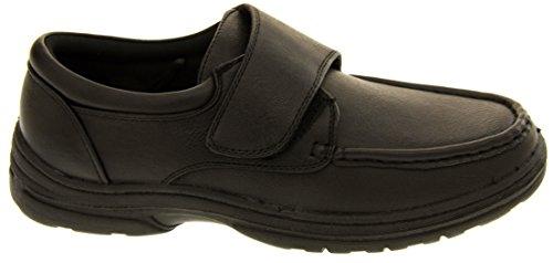 Classics Hommes Cuir Synthétique Chaussures Velcro Noir
