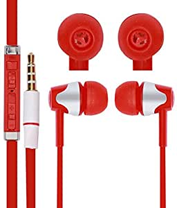Jkobi With Volume 3.5mm In Ear bud Stereo Earphones Mini Size HeadSet Headphone Handsfree with Mic For Lenovo A5000 Red