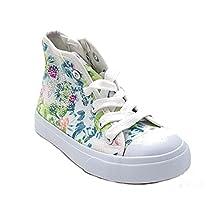 giardino d'oro Shoes scarpe bimba bambina primaverili estive sportive da ginnastica casual comode modello simile al stars con lacci e cerniera colore bianca numero 29