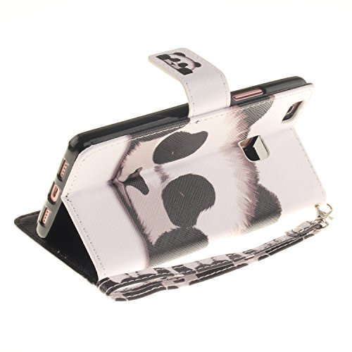 Sunroyal® Custodia per Huawei Ascend P9 Lite 5.2 pollici, Flip Libro Stand Case Cover in PU pelle Borsa e Portafoglio Wallet Ultra Sottile TPU Silicon Gel Chiusura Magnetica Protettiva Con Stilo Penna Cinturino 01