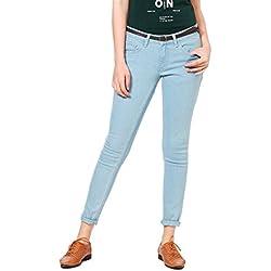 People Women's Skinny Jeans(P20402126751338_Blue_26)