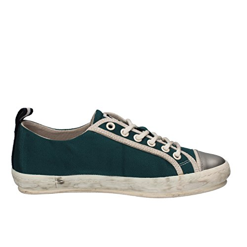 D.A.T.E. Sneakers Donna Tessuto Pelle Verde/argento