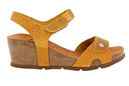 Sandalias amarillas con plataforma y correa al tobillo para Mujer